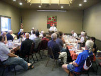Chris Cargill at the Leavenworth Rotary